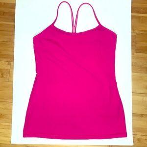 Lululemon Power Y Hot Pink Tank